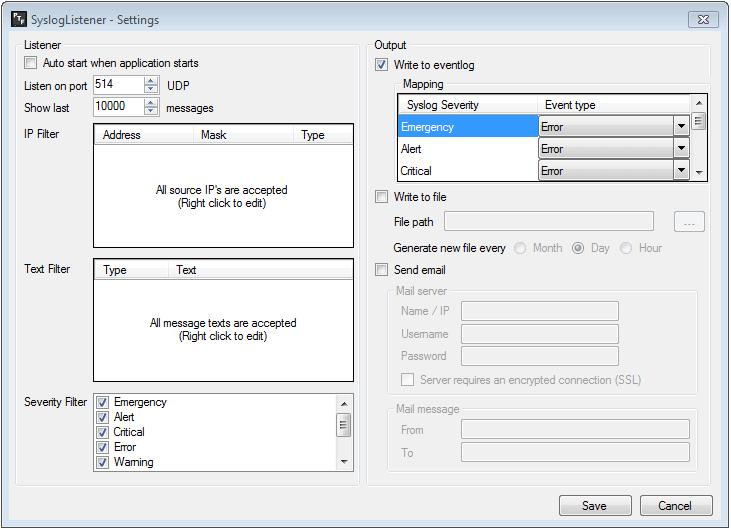 SyslogListener - PRTG Tools Family